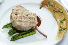 Close up Grilled Pork chop Stock Images