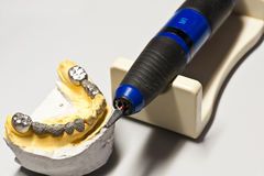 Close up Grinder for teeth Stock Photos