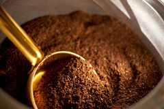 Close up of ground coffee Royalty Free Stock Photo
