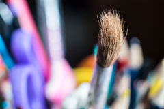 Close up of group art  supplies. Stock Images