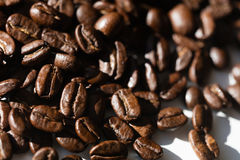 Black coffee grains Stock Photo