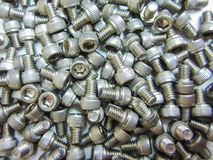 Close up group of bolt and nut Royalty Free Stock Photos