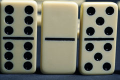 Close up of group dominoes. Royalty Free Stock Photos