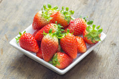 The close up of group of fresh red strawberry Royalty Free Stock Image