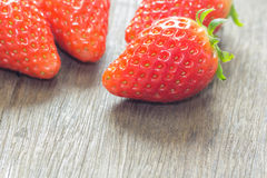 The close up of group of fresh red strawberry Royalty Free Stock Photos