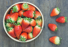 The close up of group of fresh red strawberry Royalty Free Stock Images