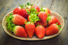 Close up  group of fresh red strawberry,made with filter Stock Photo