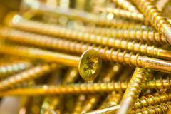 Gold Screws Stock Photos