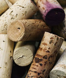 Wine corks. Close-up of group of high-quality wine corks Stock Photography