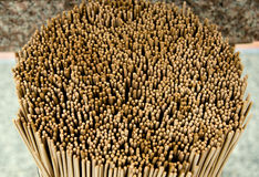 Close  up the Group of incense stick Stock Photography