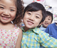 Close Up of a Group of Kids Stock Image