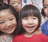 Close Up of a Group of Kids Royalty Free Stock Image