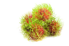 Close up group of  rambutan. On white background Stock Photo