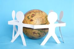 Close up of group and world Stock Images