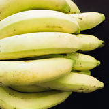 Close up group of yellow banana ingredient of asia healthcare fo Royalty Free Stock Photography