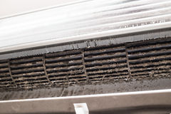 Close up grunge dirty dust fungus Air Duct Royalty Free Stock Photography