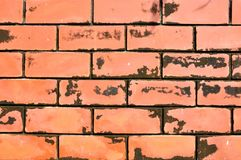 Close up of grunge red brick wall Stock Photography