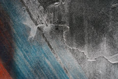 Close up of grungy rough scratched grey metal background Stock Images