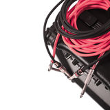 Close-up of guitar amplifier with jack cable.  Stock Images