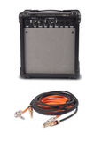 Close-up of guitar amplifier with jack cable.  Stock Photos