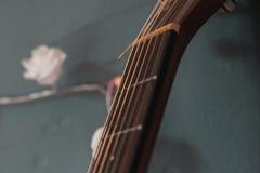Close up of guitar fretboard stock photos