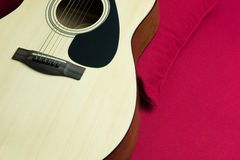 Close-up of a guitar Royalty Free Stock Images