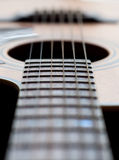 Close-up of a guitar neck Stock Images