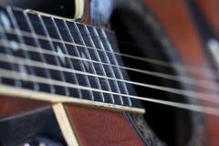 Close up guitar ,play music concept Stock Photos
