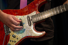Close up of guitarist Stock Photography