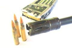 Close up Gun with ammunition Stock Photos