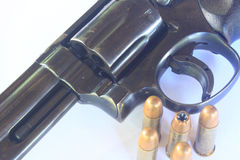 Close up Gun with ammunition Royalty Free Stock Photography
