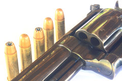 Close up Gun with ammunition Royalty Free Stock Image