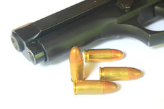 Close up Gun with ammunition Royalty Free Stock Images