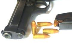 Close up Gun with ammunition Stock Photography