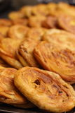 Close up of Guokui, a kind of fried bread in southeast China, especially in Sichuan and Chongqing, shallow DOF.  royalty free stock image