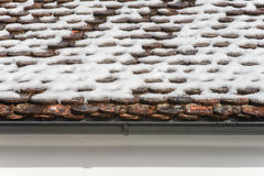 Close-up of a gutter at a roof. Stock Photography