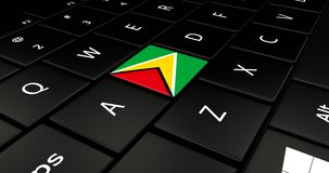Close up of Guyana button. Stock Photography