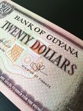 Close up of Guyanese dollar. Guyana paper money bank note Stock Photos