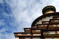 Close up of Gyantse Kumbum chorten Stock Photography