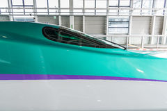 Close up of H5 Series bullet (High-speed or Shinkansen) train. Stock Images