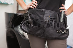Close up of hairdressing bag Stock Photography