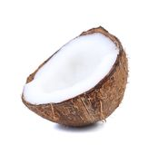 Close up of half coconut. Stock Image