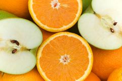 Close up of half cut oranges Stock Photos