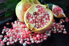 Close up Half of Pomegranate Royalty Free Stock Images