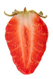 Close up of half of strawberry, isolated Royalty Free Stock Photo