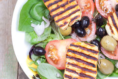 Close up halloumi salads Royalty Free Stock Photography