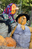 Close-up of a Halloween doll of a head scarecrow Royalty Free Stock Photography