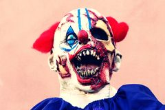 Close up Halloween party horror clown. Stock Images