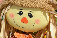 Close up of Halloween scarecrow Royalty Free Stock Photos
