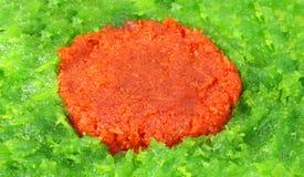 Halua or Halva making Bangladeshi flag Royalty Free Stock Photos